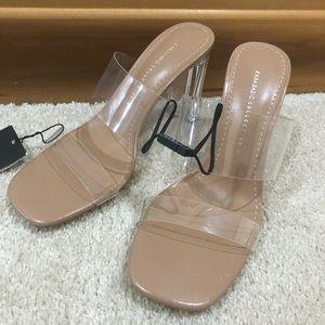 Zara Basics clear sandals size 38